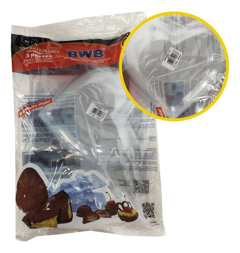 Forma Silicone Bwb Coração 1kg Chocolate Sp 47 Especial