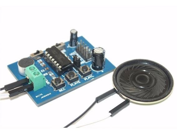 Gravador Player De Áudio Voz Isd1820 Com Alto Falante - 0131