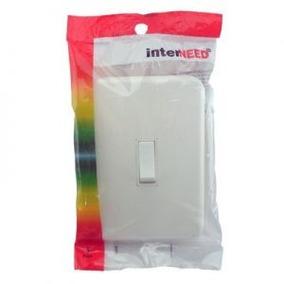Kit 20 Conjunto 4x2 Interruptor 1tp Emb Branca