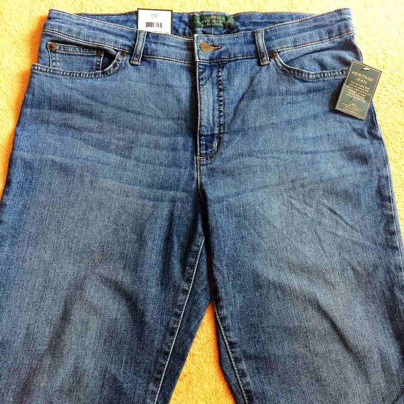 Calca Jeans Ralph Lauren Feminina Stretch Heritage Jeans