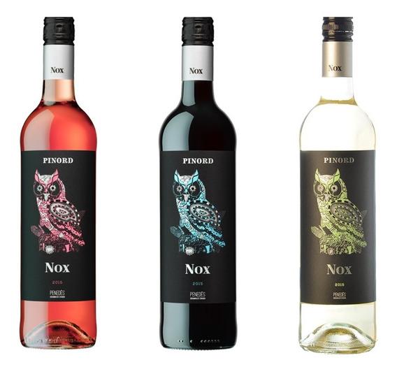 Tercia De Nox Vino Rosado Blanco Y Tinto Nox Penedes 3 Pz*