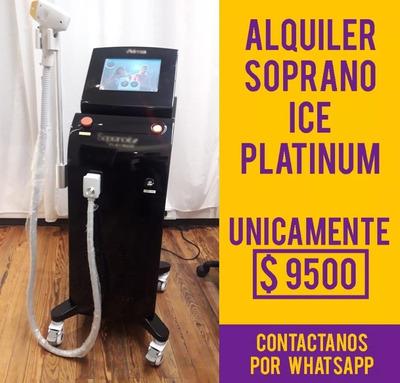 Alquiler Equipo Soprano Ice Platinum Depilación Definitiva