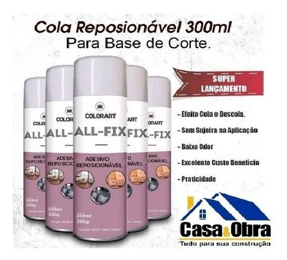 3 Colas Adesivo Reposicionável Artesanato Spray Colorart All-fix 300ml