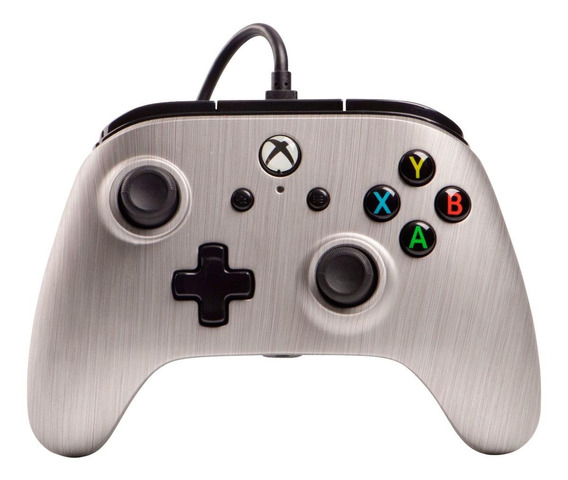 Control joystick PowerA Enhanced Wired Controller Xbox One brushed aluminum