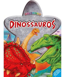 Livro Colorindo Dinossauros Blu Editora