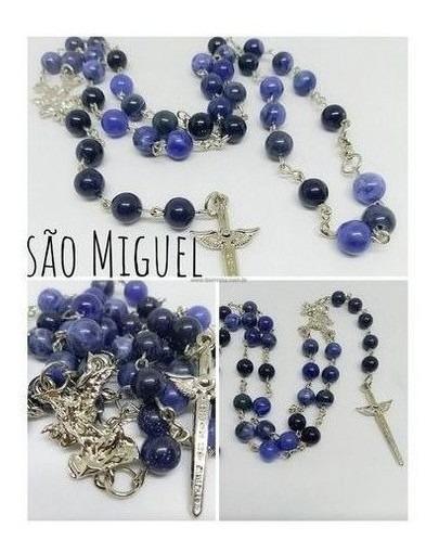 Terço De São Miguel 9 Saudações Sodalita E Pedra Estrela