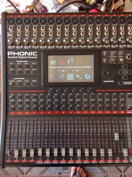 Mesa Digital Phonic Com Placa Expansão