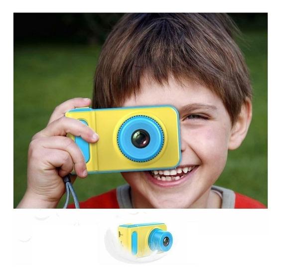 Camera Digital Fotografica Kids Criança Infantil Selfie Azul
