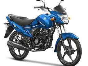 Suzuki Hayate En Negro, Rojo Y Azul