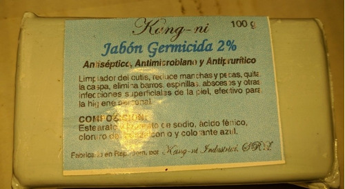 Jabón Germicida 2% 100g