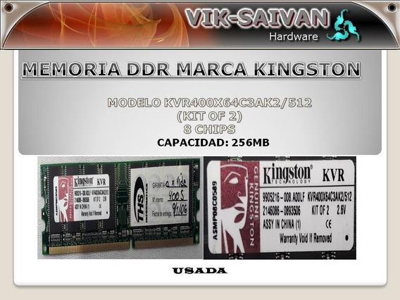 Memoria Ddr Kingston 256mb Pc-3200 400mhz 8 Chips 28