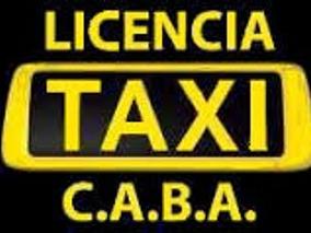 Vendo Licencia De Taxi G.c.b.a Año 2012 Titular