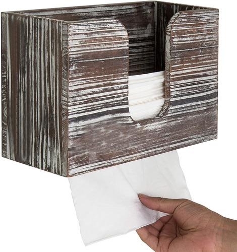 Mygift - Dispensador De Toallas De Papel Para Pared (madera)