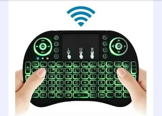 Teclado Wireles Para Smart Tv E Tv Box Teclas Luminosas