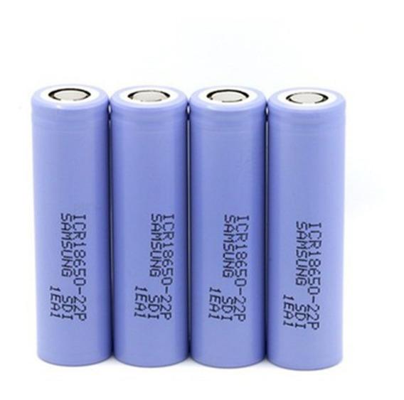 Bateria 18650 Samsung 22p Original 2200mah Kit 4