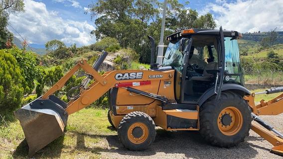 Retro Excavadora Pajarito Case 580n