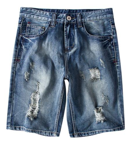 Pantalones Vaqueros De Moda De Verano Para Hombre Talla Gra Mercado Libre