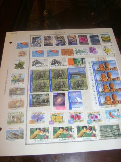 143 Sellos Postales Australia Paisajes Años 1984 2005 Etc