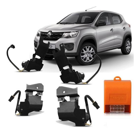 Kwid Renault 4p Kit Trava Eletrica Automotivo Tragial Trkw4