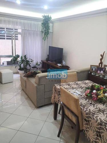 Imagem 1 de 17 de Apartamento Com 3 Dormitórios À Venda, 135 M² Por R$ 530.000,00 - Embaré - Santos/sp - Ap7815