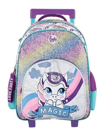 Mochila Carro Unicornio Magic C/ Luz Led 18