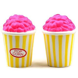 Kansoo 2pcs Slow Rising Jumbo, Squishy Cute Popcorn Food Cre