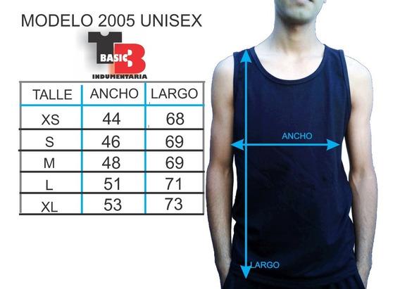 Musculosas 100% Algodon Premium 20/1- Pack 6 U