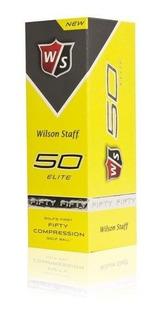 Kaddygolf Pelotas Golf Wilson Fifty Amarillas Tubo X 3