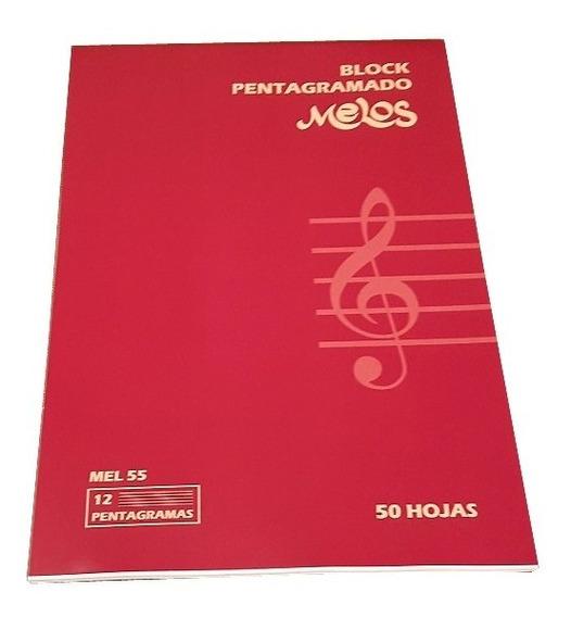 Block Pentagramado Melos Cuaderno 50 Hojas