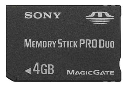 Imagem 1 de 1 de Cartão Memória Memory Stick Pro Duo Sony 4gb