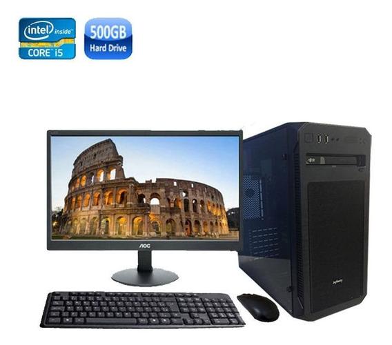 Computador Completo Core I5 8gb Hd 500gb + Monitor + Wi-fi