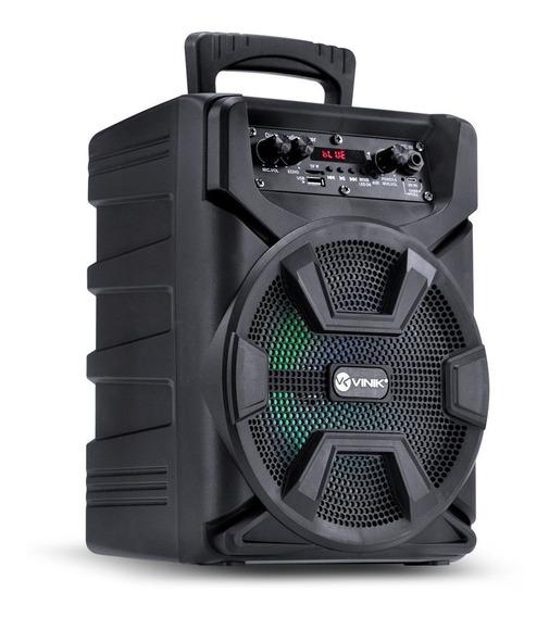 Caixa De Som Portátil Bluetooth Usb Sd Auxiliar Microfone