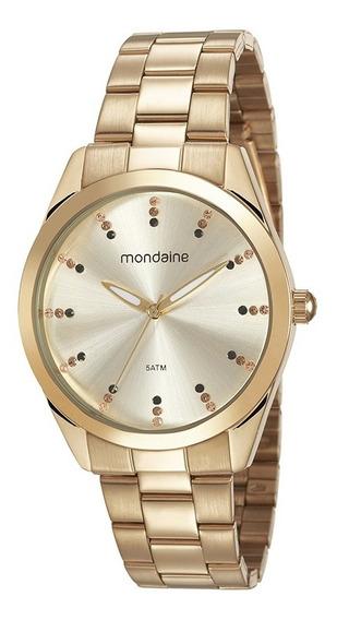 Relógio Original Mondaine Feminino Dourado 53672lpmvde1