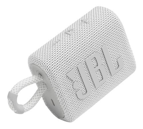 Parlante JBL Go 3 portátil con bluetooth white