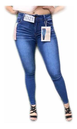 Jeans Pantalon Strech Cintura Alta Push Up Wax Jean Mercado Libre