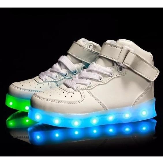 Zapatillas Importadas Led Caño Alto !!! Unisex