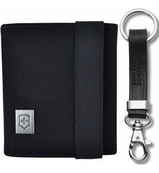 Cartera Victorinox Tri-fold Wallet Con Llavero De Piel