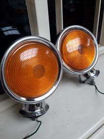 Par De Lanternas Antigas Cromadas (frete Gratis)