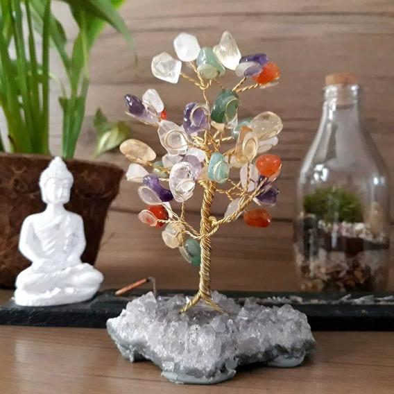 Árvore Cristais Sortidos Ametista Pedras Naturais