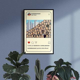 Quadro Decorativo Operários, Tarsila, Instagram