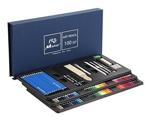Kit De Dibujo Profesional Set De 100 Piezas Principiante