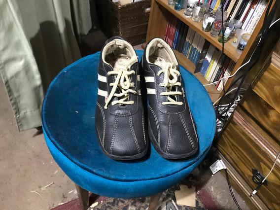 Zapatillas Náuticas Cuero Talle 38 - 27 Cm De Largo