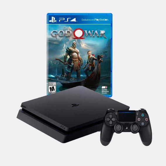 Ps4 Consola Play Station 4 Slim 1 Tb - Juego God Of War 4