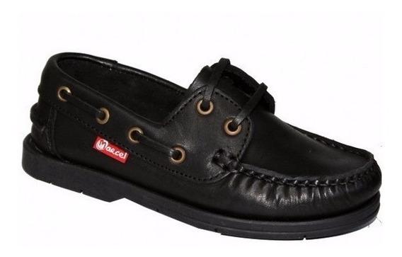 Zapatos Colegiales Cordones Escolares Cuero Marcel 29 Al 41