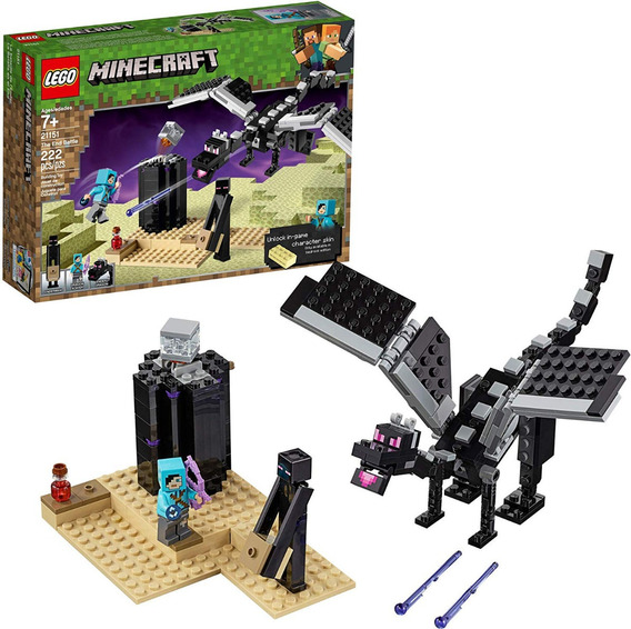 Lego Minecraft The End Battle 21151 Ender Dragon 222 Pzas
