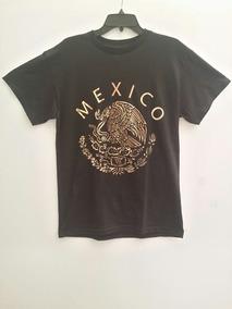 Playera Escudo Nacional Mexicano Talla M Mexico Aguila Dorad