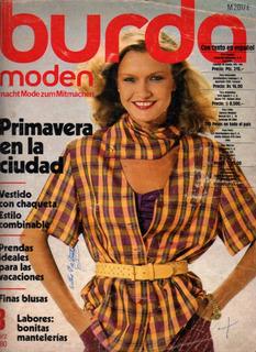 Revista Burda Moden 3/80 Con Moldes E Instructivo En Español
