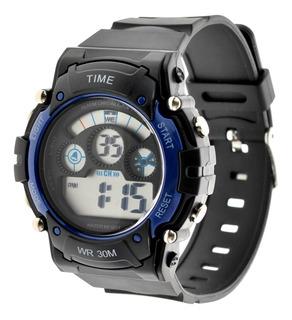 Reloj Hombre Digital Time. Deportivo Sumergible 3atm Tdig14