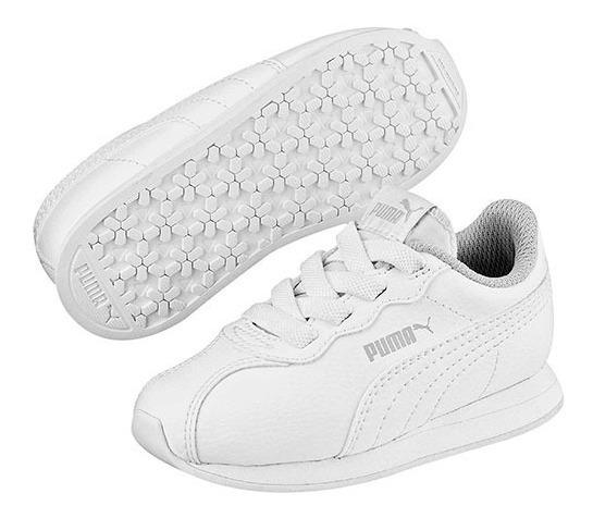 Tenis Puma Turin Ll Ac Inf Blanco Tallas De #11 A #16 Bebes