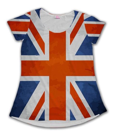 Camiseta Babylook Reino Unido United Kingdom Europa Tumblr